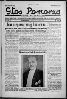 """Głos Pomorza : dawniej """"Głos Wąbrzeski"""" : pismo społeczne, gospodarcze, oświatowe i polityczne dla wszystkich stanów 1937.12.04, R. 19[!], nr 140 + Niedziela nr 48"""