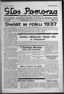 """Głos Pomorza : dawniej """"Głos Wąbrzeski"""" : pismo społeczne, gospodarcze, oświatowe i polityczne dla wszystkich stanów 1937.12.31, R. 19[!], nr 152 + Niedziela nr 1, kalendarz"""