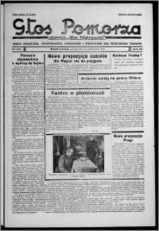 """Głos Pomorza : dawniej """"Głos Wąbrzeski"""" : pismo społeczne, gospodarcze, oświatowe i polityczne dla wszystkich stanów 1938.10.24 [i.e. 1938.10.25], R. 20, nr 123"""