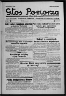 """Głos Pomorza : dawniej """"Głos Wąbrzeski"""" : pismo społeczne, gospodarcze, oświatowe i polityczne dla wszystkich stanów 1939.06.03, R. 21, nr 64"""