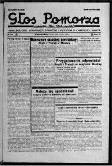 """Głos Pomorza : dawniej """"Głos Wąbrzeski"""" : pismo społeczne, gospodarcze, oświatowe i polityczne dla wszystkich stanów 1939.07.08, R. 21, nr 79"""