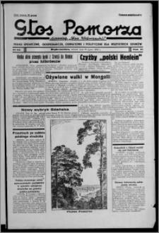 """Głos Pomorza : dawniej """"Głos Wąbrzeski"""" : pismo społeczne, gospodarcze, oświatowe i polityczne dla wszystkich stanów 1939.07.25, R. 21, nr 86"""
