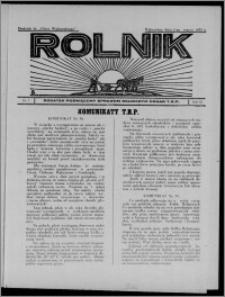 """Rolnik : dodatek poświęcony sprawom rolniczym : organ T.R.P. : dodatek do """"Głosu Wąbrzeskiego"""" 1935.03.02, R. 3[!], nr 7"""