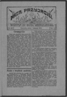 """Nasz Przyjaciel : dodatek do """"Głosu Wąbrzeskiego"""" 1924.11.01, R. 1, nr 36"""