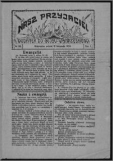 """Nasz Przyjaciel : dodatek do """"Głosu Wąbrzeskiego"""" 1924.11.15, R. 1, nr 38"""