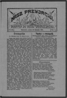 """Nasz Przyjaciel : dodatek do """"Głosu Wąbrzeskiego"""" 1924.11.22, R. 1, nr 39"""