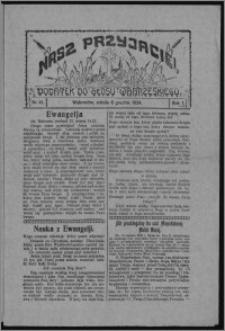"""Nasz Przyjaciel : dodatek do """"Głosu Wąbrzeskiego"""" 1924.12.06, R. 1, nr 41"""