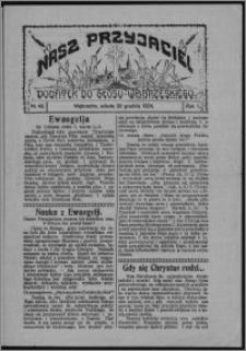 """Nasz Przyjaciel : dodatek do """"Głosu Wąbrzeskiego"""" 1924.12.20, R. 1, nr 43"""