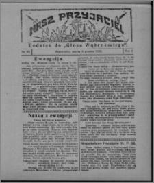 """Nasz Przyjaciel : dodatek do """"Głosu Wąbrzeskiego"""" 1925.12.05, R. 2, nr 49"""