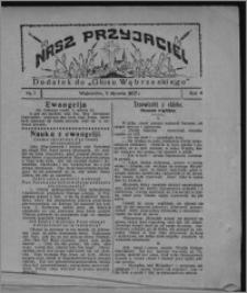 """Nasz Przyjaciel : dodatek do """"Głosu Wąbrzeskiego"""" 1927.01.01, R. 4, nr 1"""