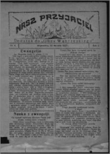 """Nasz Przyjaciel : dodatek do """"Głosu Wąbrzeskiego"""" 1927.01.22, R. 4, nr 4"""
