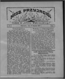"""Nasz Przyjaciel : dodatek do """"Głosu Wąbrzeskiego"""" 1927.11.19, R. 4, nr 47"""