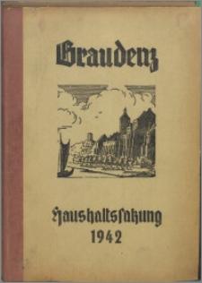 Haushaltssatzung der Stadt Graudenz für das Rechnungsjahr 1942