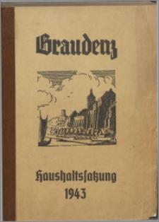 Haushaltssatzung der stadt Graudenz für das Rechnungsjahr 1943