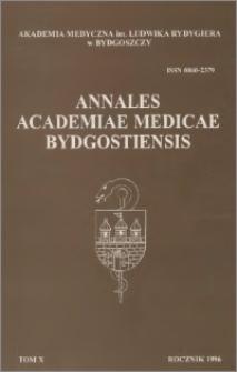 Annales Academiae Medicae Bydgostiensis, T. X (1996