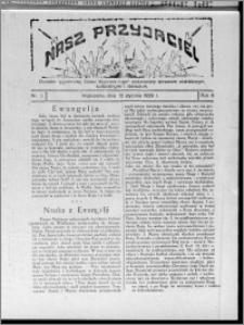 """Nasz Przyjaciel : dodatek tygodniowy """"Głosu Wąbrzeskiego"""" poświęcony sprawom oświatowym, kulturalnym i literackim 1929.01.12, R. 6, nr 2"""