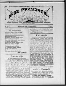 """Nasz Przyjaciel : dodatek tygodniowy """"Głosu Wąbrzeskiego"""" poświęcony sprawom oświatowym, kulturalnym i literackim 1929.02.02, R. 6, nr 5"""