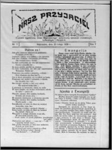 """Nasz Przyjaciel : dodatek tygodniowy """"Głosu Wąbrzeskiego"""" poświęcony sprawom oświatowym, kulturalnym i literackim 1929.02.23, R. 7 [i.e. 6], nr 7 [i.e. 8]"""