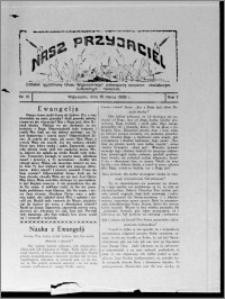 """Nasz Przyjaciel : dodatek tygodniowy """"Głosu Wąbrzeskiego"""" poświęcony sprawom oświatowym, kulturalnym i literackim 1929.03.16, R. 7 [i.e. 6] nr 10 [i.e. 11]"""