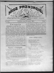 """Nasz Przyjaciel : dodatek tygodniowy """"Głosu Wąbrzeskiego"""" poświęcony sprawom oświatowym, kulturalnym i literackim 1929.04.20, R. 7 [i.e. 6], nr 15 [i.e. 16]"""