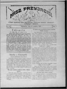 """Nasz Przyjaciel : dodatek tygodniowy """"Głosu Wąbrzeskiego"""" poświęcony sprawom oświatowym, kulturalnym i literackim 1929.04.27, R. 7 [i.e. 6], nr 16 [i.e. 17]"""