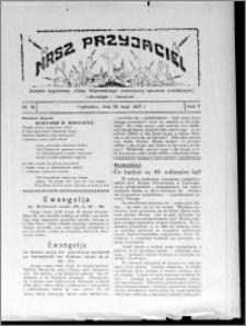 """Nasz Przyjaciel : dodatek tygodniowy """"Głosu Wąbrzeskiego"""" poświęcony sprawom oświatowym, kulturalnym i literackim 1929.05.25, R. 7 [i.e. 6], nr 19 [i.e. 20]"""