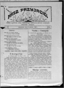 """Nasz Przyjaciel : dodatek tygodniowy """"Głosu Wąbrzeskiego"""" poświęcony sprawom oświatowym, kulturalnym i literackim 1929.06.06, R. 7 [i.e. 6], nr 21 [i.e. 22]"""