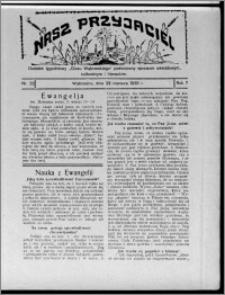 """Nasz Przyjaciel : dodatek tygodniowy """"Głosu Wąbrzeskiego"""" poświęcony sprawom oświatowym, kulturalnym i literackim 1929.06.22, R. 7 [i.e. 6], nr 22 [i.e. 23]"""