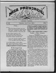 """Nasz Przyjaciel : dodatek tygodniowy """"Głosu Wąbrzeskiego"""" poświęcony sprawom oświatowym, kulturalnym i literackim 1929.07.13, R. 7 [i.e. 6], nr 24 [i.e. 25]"""