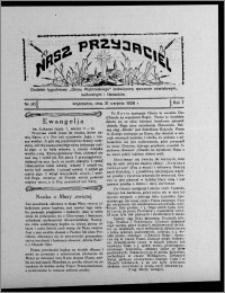 """Nasz Przyjaciel : dodatek tygodniowy """"Głosu Wąbrzeskiego"""" poświęcony sprawom oświatowym, kulturalnym i literackim 1929.08.31, R. 7 [i.e. 6], nr 30"""