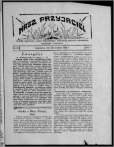 """Nasz Przyjaciel : dodatek tygodniowy """"Głosu Wąbrzeskiego"""" poświęcony sprawom oświatowym, kulturalnym i literackim 1929.09.28, R. 7 [i.e. 6], nr 32"""