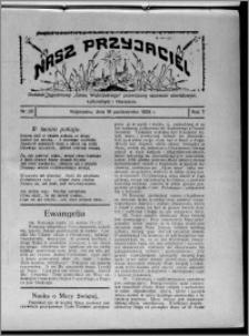 """Nasz Przyjaciel : dodatek tygodniowy """"Głosu Wąbrzeskiego"""" poświęcony sprawom oświatowym, kulturalnym i literackim 1929.10.19, R. 7 [i.e. 6], nr 35"""