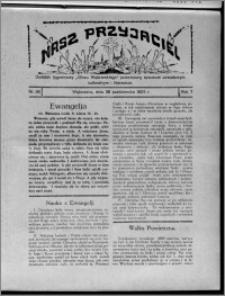 """Nasz Przyjaciel : dodatek tygodniowy """"Głosu Wąbrzeskiego"""" poświęcony sprawom oświatowym, kulturalnym i literackim 1929.10.26, R. 7 [i.e. 6], nr 36"""
