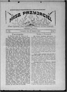"""Nasz Przyjaciel : dodatek tygodniowy """"Głosu Wąbrzeskiego"""" poświęcony sprawom oświatowym, kulturalnym i literackim 1929.11.16, R. 7 [i.e. 6], nr 39"""