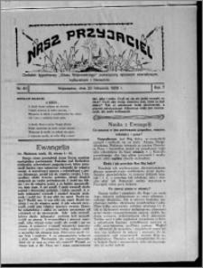 """Nasz Przyjaciel : dodatek tygodniowy """"Głosu Wąbrzeskiego"""" poświęcony sprawom oświatowym, kulturalnym i literackim 1929.11.23, R. 7 [i.e. 6], nr 40"""