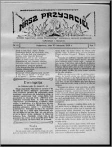"""Nasz Przyjaciel : dodatek tygodniowy """"Głosu Wąbrzeskiego"""" poświęcony sprawom oświatowym, kulturalnym i literackim 1929.11.30, R. 7 [i.e. 6], nr 41"""
