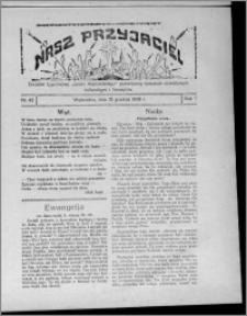 """Nasz Przyjaciel : dodatek tygodniowy """"Głosu Wąbrzeskiego"""" poświęcony sprawom oświatowym, kulturalnym i literackim 1929.12.15, R. 7 [i.e. 6], nr 43"""