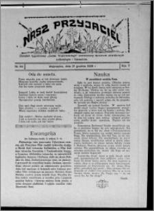 """Nasz Przyjaciel : dodatek tygodniowy """"Głosu Wąbrzeskiego"""" poświęcony sprawom oświatowym, kulturalnym i literackim 1929.12.21, R. 7 [i.e. 6], nr 44"""