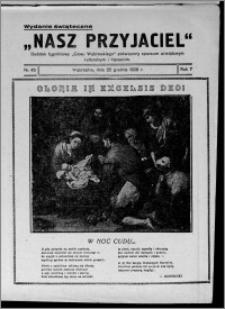 """Nasz Przyjaciel : dodatek tygodniowy """"Głosu Wąbrzeskiego"""" poświęcony sprawom oświatowym, kulturalnym i literackim 1929.12.25, R. 7 [i.e. 6], nr 45"""
