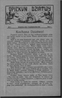 Opiekun Dziatwy 1927.10.19 [i.e. 1927.10.16], R. 1, nr 5