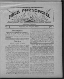 """Nasz Przyjaciel : dodatek tygodniowy """"Głosu Wąbrzeskiego"""" poświęcony sprawom oświatowym, kulturalnym i literackim 1930.01.04, R. 8[!], nr 1"""