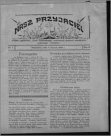 """Nasz Przyjaciel : dodatek tygodniowy """"Głosu Wąbrzeskiego"""" poświęcony sprawom oświatowym, kulturalnym i literackim 1930.01.11, R. 8[!], nr 2"""