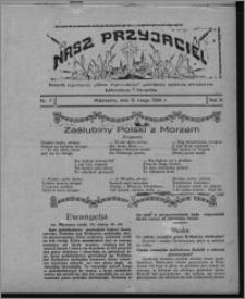 """Nasz Przyjaciel : dodatek tygodniowy """"Głosu Wąbrzeskiego"""" poświęcony sprawom oświatowym, kulturalnym i literackim 1930.02.15, R. 8[!], nr 7"""