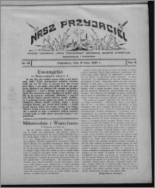 """Nasz Przyjaciel : dodatek tygodniowy """"Głosu Wąbrzeskiego"""" poświęcony sprawom oświatowym, kulturalnym i literackim 1930.07.19, R. 8[!], nr 29"""