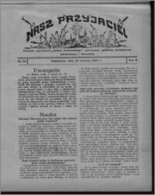 """Nasz Przyjaciel : dodatek tygodniowy """"Głosu Wąbrzeskiego"""" poświęcony sprawom oświatowym, kulturalnym i literackim 1930.08.23, R. 8[!], nr 34"""