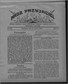 """Nasz Przyjaciel : dodatek tygodniowy """"Głosu Wąbrzeskiego"""" poświęcony sprawom oświatowym, kulturalnym i literackim 1930.09.13, R. 8[!], nr 37"""