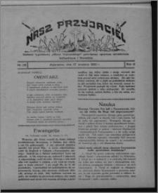 """Nasz Przyjaciel : dodatek tygodniowy """"Głosu Wąbrzeskiego"""" poświęcony sprawom oświatowym, kulturalnym i literackim 1930.09.27, R. 8[!], nr 38"""