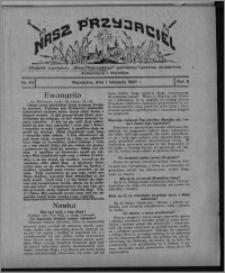 """Nasz Przyjaciel : dodatek tygodniowy """"Głosu Wąbrzeskiego"""" poświęcony sprawom oświatowym, kulturalnym i literackim 1930.11.01, R. 8[!], nr 43"""
