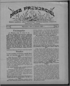 """Nasz Przyjaciel : dodatek tygodniowy """"Głosu Wąbrzeskiego"""" poświęcony sprawom oświatowym, kulturalnym i literackim 1930.11.08, R. 8[!], nr 44"""