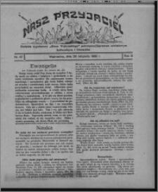 """Nasz Przyjaciel : dodatek tygodniowy """"Głosu Wąbrzeskiego"""" poświęcony sprawom oświatowym, kulturalnym i literackim 1930.11.29, R. 8[!], nr 47"""